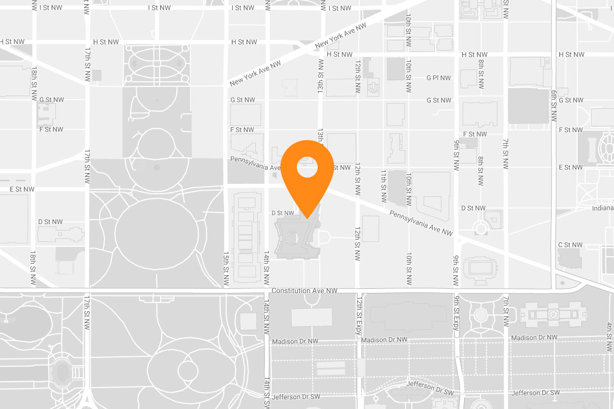 Reagan Building location map